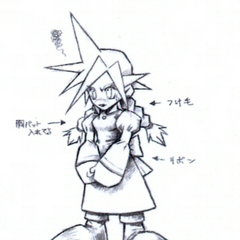 Concept art of Cloud's Wall Market dress.