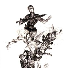 Promotional artwork for Vaan, Ashe, Balthier, and Fran by <a href=