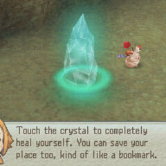 A save crystal in <i><a href=