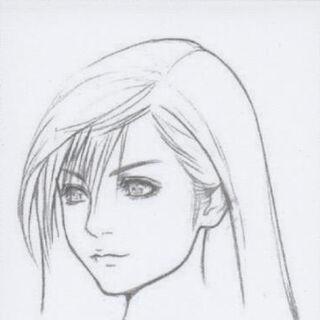 <i>Final Fantasy VII: Advent Children</i> face artwork.