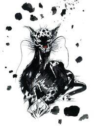 Imágen artística de un Bengal en Final Fantasy II por Yoshitaka Amano.
