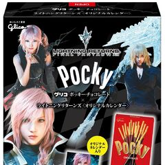 Snow on Glico Pocky box.