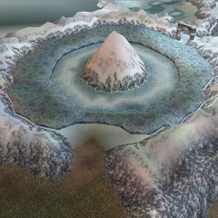 Gulg Volcano in World B in <i>Dissidia 012 Final Fantasy</i>.