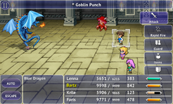 FFV iOS Goblin Punch