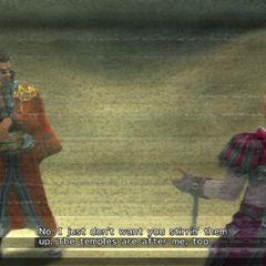 Gippal meets Auron before the <a href=