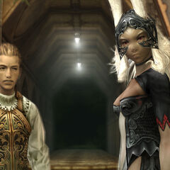 Fran with Balthier.
