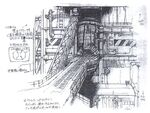 Midgar Reactor Entrance FFVII Sketch
