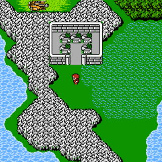 Bafsk on the World Map (NES).