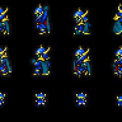 Set of Golbez's sprites.