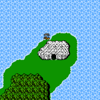Matoya's Cave on the overworld (NES).