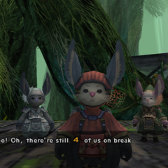 Three Moogle layabouts in the <a href=