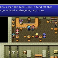Villager believing Cecil won the battle