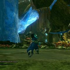 Parts of the crystal pillar in Sunleth Waterscape.