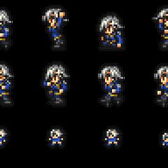 Set of Fujin's sprites.