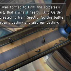 Squall's speech.