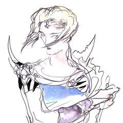 Alternate Bartz concept art by Yoshitaka Amano.