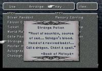 Key item strange potion