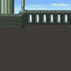 Battle background (Dimension Castle outside (SNES).