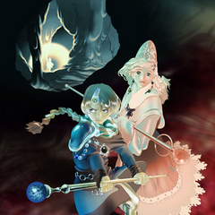 Leonora in the promotional artwork for Palom's Tale.