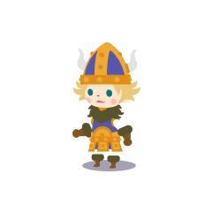 A male Viking in <i><a href=