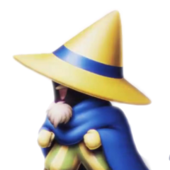 Galuf as a Black Mage.