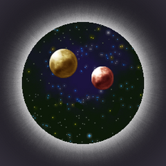 The moons seen in the <i>Final Fantasy IV The Complete Collection</i> version.