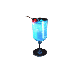 Blue Hawaii drink - Costa del Sol.