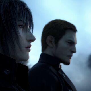Cor speaking to Noctis in the E3 2013 trailer for <i>Final Fantasy XV</i>.