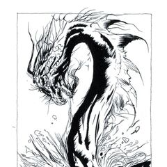 Amano art of Leviathan(possibly) from the novel.