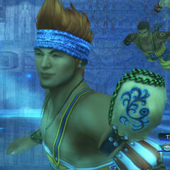 Wakka in a blitzball match.
