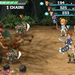 Pre-release battle screenshot.