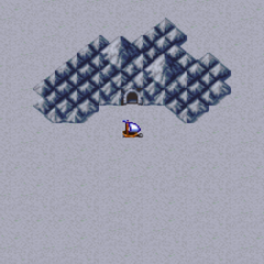 Snow Cavern on the World Map (PS).
