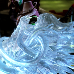 Serah in crystal stasis.