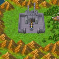 Castle Sasune on the World Map (PSP).