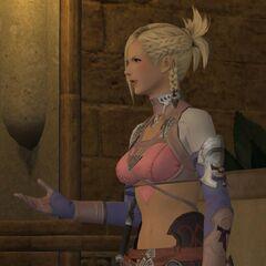 Minfilia in-game render.