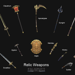 The Relic Weapons in <i><a href=