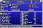 FFV GBA Equipment Menu 1