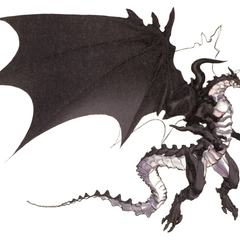 Akira Oguro artwork of Bahamut for <i>Final Fantasy IV</i> (DS).