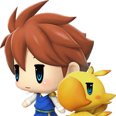 Bartz in <i>World of Final Fantasy</i>.