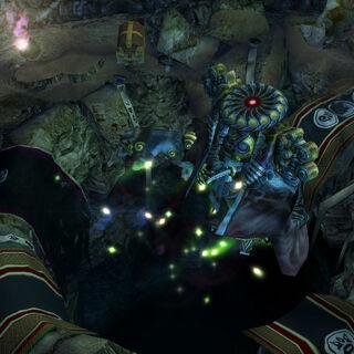 Yojimbo met in the Cavern of Stolen Fayth.