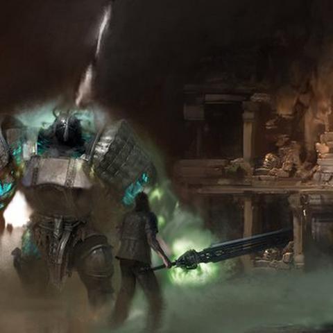 Concept art for Gladiolus's DLC episode.