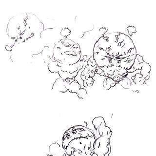 Yoshitaka Amano sketch of the trio.