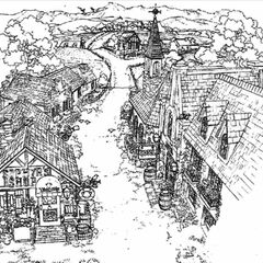 Concept art of the town.