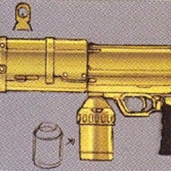 Concept art of the Machine Gun in EX Mode.