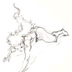 Yoshitaka Amano sketch.