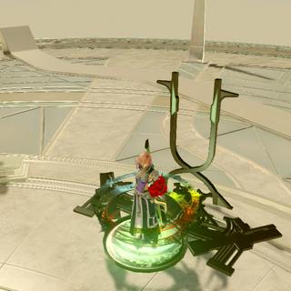 The teleporter within the Ark that returns Lightning to Nova Chrysalia.