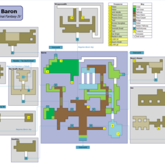 Floor plan of Baron in <i>Final Fantasy IV</i>.