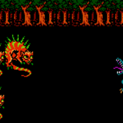 Bahamut summoned into battle (NES).