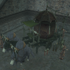 A qiqirn cart pulled by sheep in <i>Final Fantasy XI</i>.