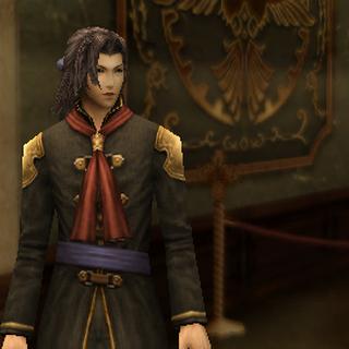 Quon in-game in his Class Zero uniform.